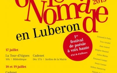 Poésie nomade en Luberon 2015